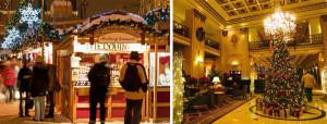 Jarmark świąteczny i przystrojone lobby hotelowe...